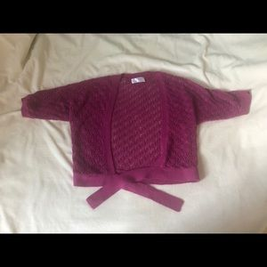 Pink Loft Short Sleeve Cardigan